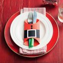 DIY Santa Suit Cutlery Holder