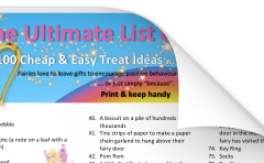 100 Easy Treat Ideas from the Fairies list by Opening Fairy Doors