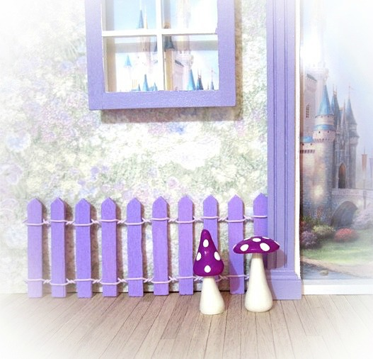 purple fairy door fence