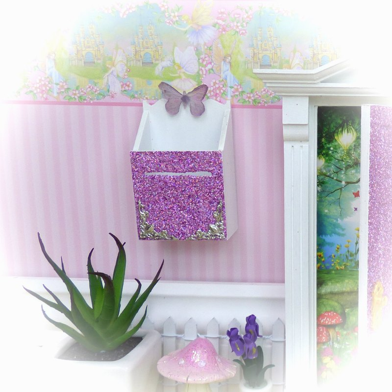 purple glitter fairy mailbox