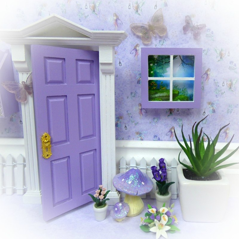 purple fairy window