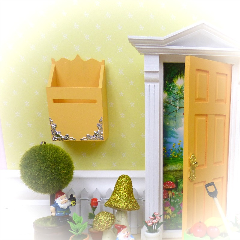 Yellow fairy mailbox