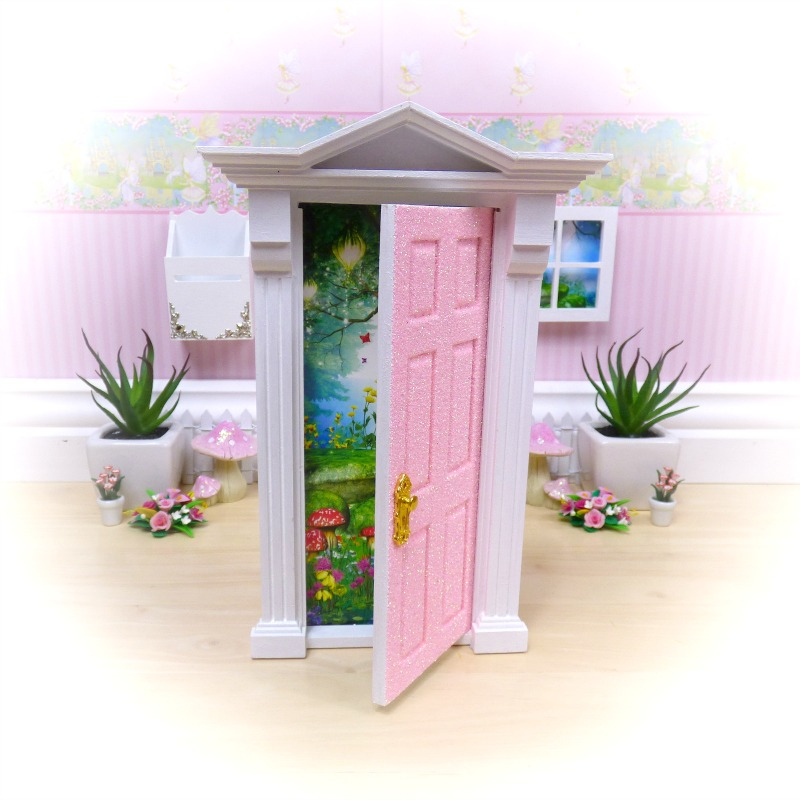 peaches cream glitter opening fairy door