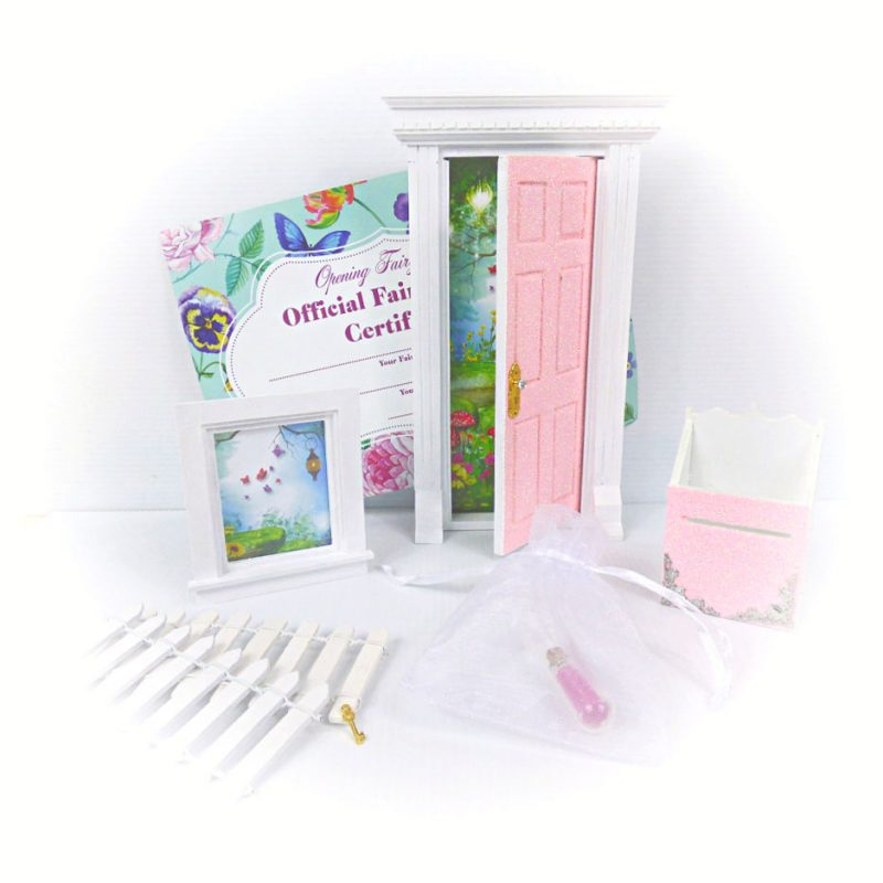 peaches cream glitter opening fairy door starter set