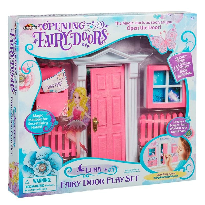 Pink Opening Fairy Door 10 piece Set