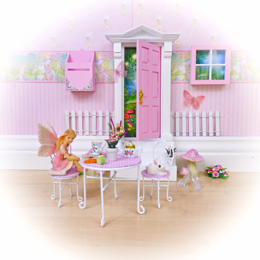 Pink Table and Chairs Set