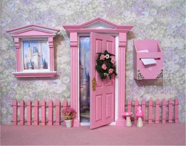 Pink Fairy Door Fence