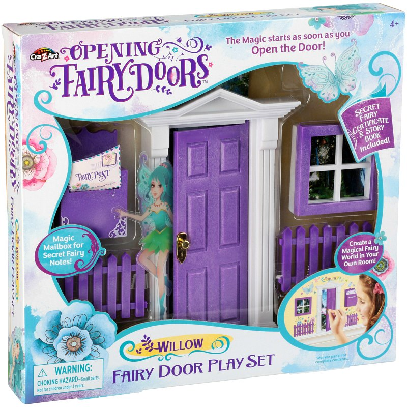purple opening fairy door 10 piece set