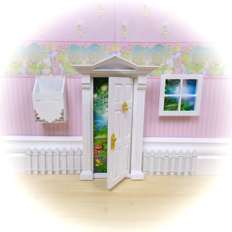 white opening fairy door starter set