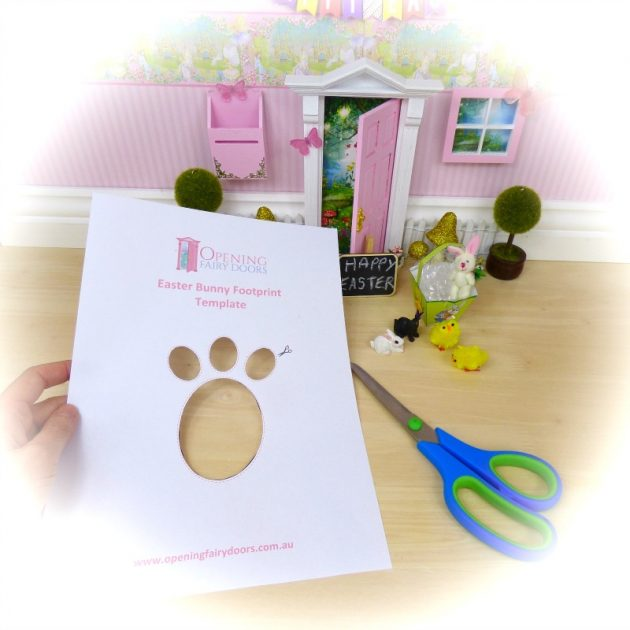 FREE easter bunny footprints template