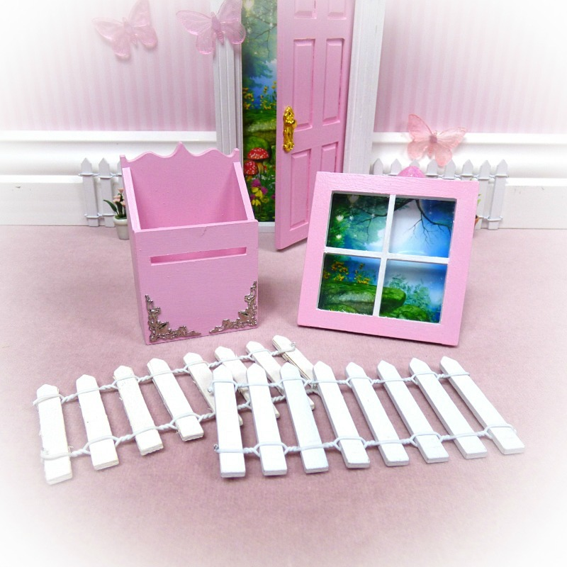 pink mailbox window fence pack