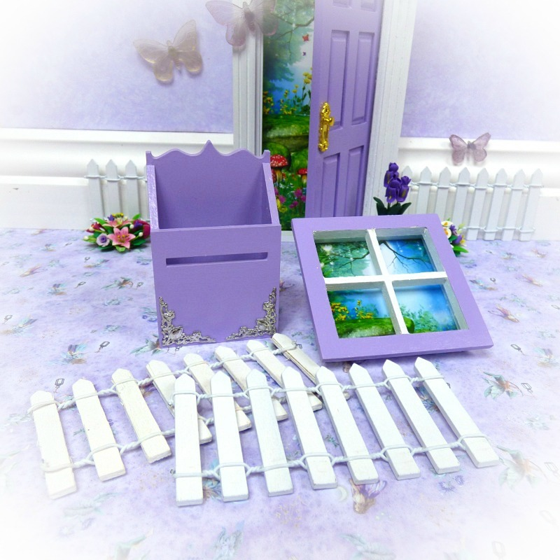 Purple Mailbox Window Fence Pack