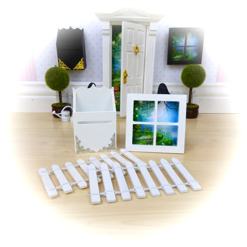 white mailbox window fence pack