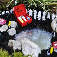 how to make a fairy garden pond