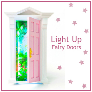 Light Up Opening Fairy Doors