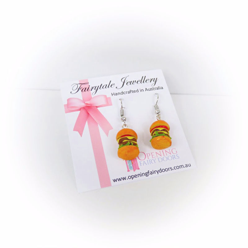 Opening Fairy Doors Big Mac Earrings
