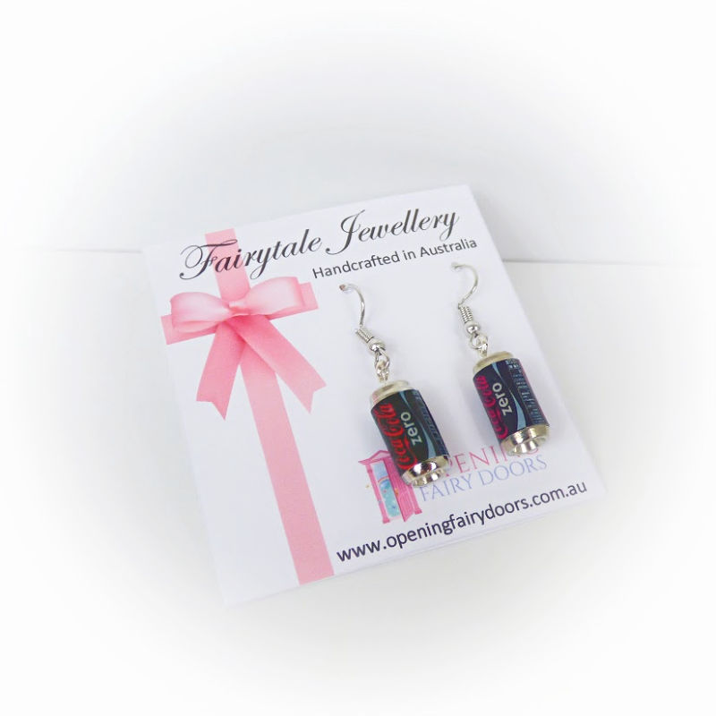 Opening Fairy Doors Coke Earrings