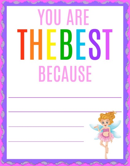 FREE Fairy Encouragement Cards