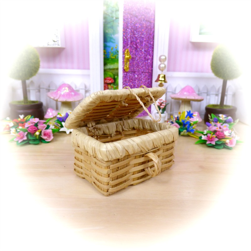 opening fairy picnic basket