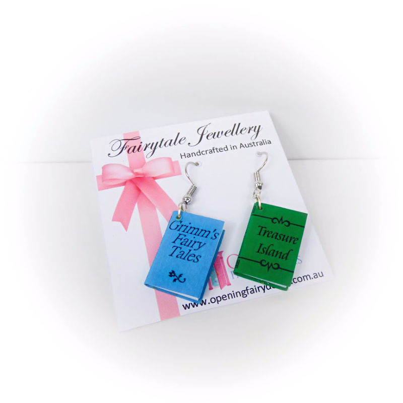 Opening Fairy Doors Book Earrings