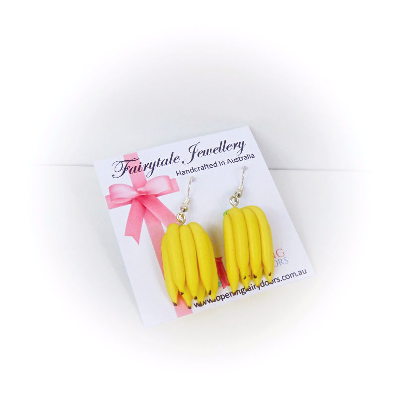 Opening Fairy Doors Bananas Earrings