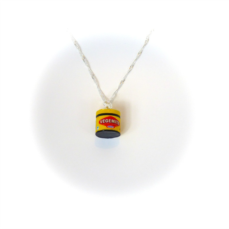 Opening Fairy Doors Vegemite Necklace