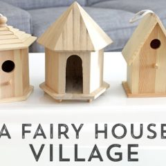 bird house fairy village