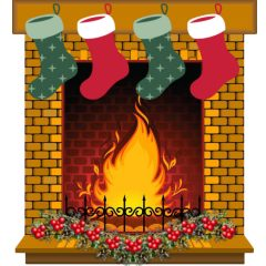Free 3D Christmas Fairy Fireplace