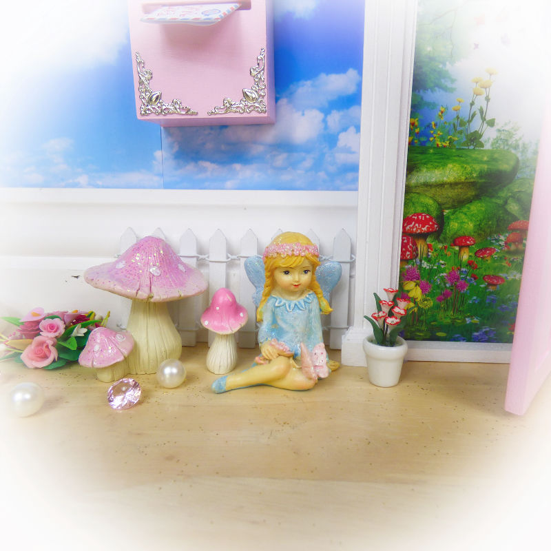 Bluebell Little Pink Sitting Fairy