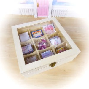 Fairy Mail Kit in wooden Fairy Storage Box by Opening Fairy Doors