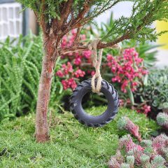 how to make a fairy tyre swing
