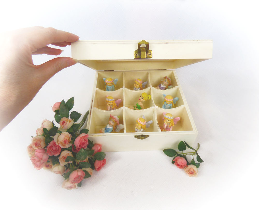 Fairy Storage Box open with fairies inside