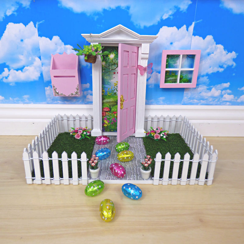 How to decorate a fairy door for easter