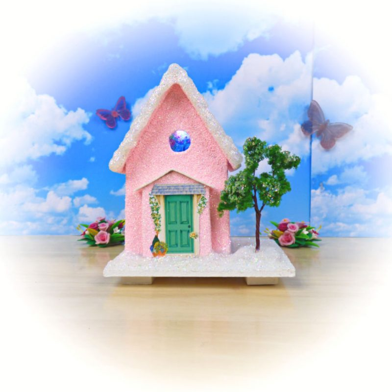 Fairy Floss Cottage Light Up Fairy House Small