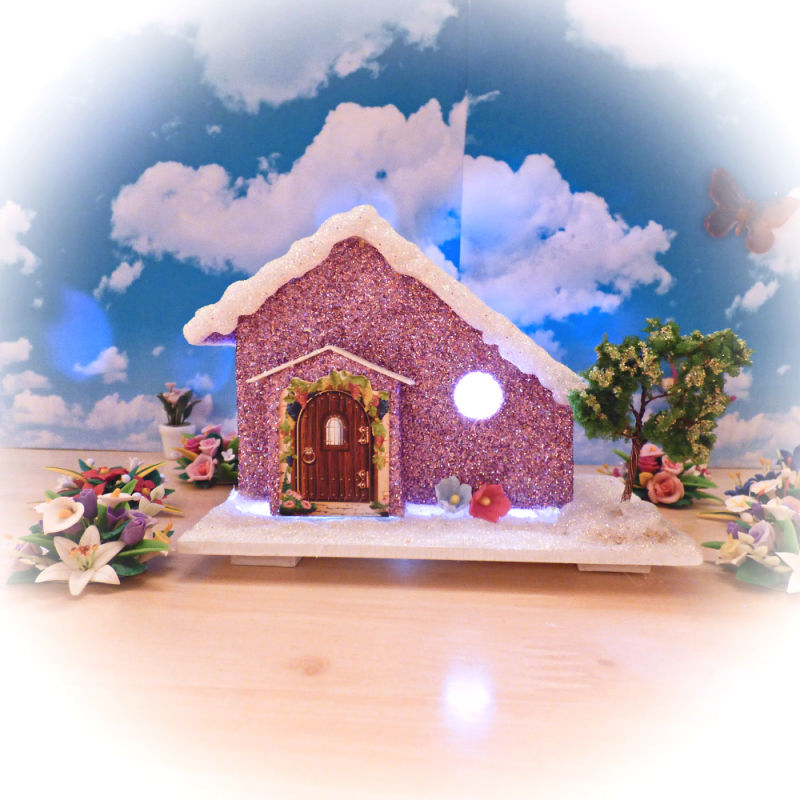 Lavender Cottage Light Up Fairy House
