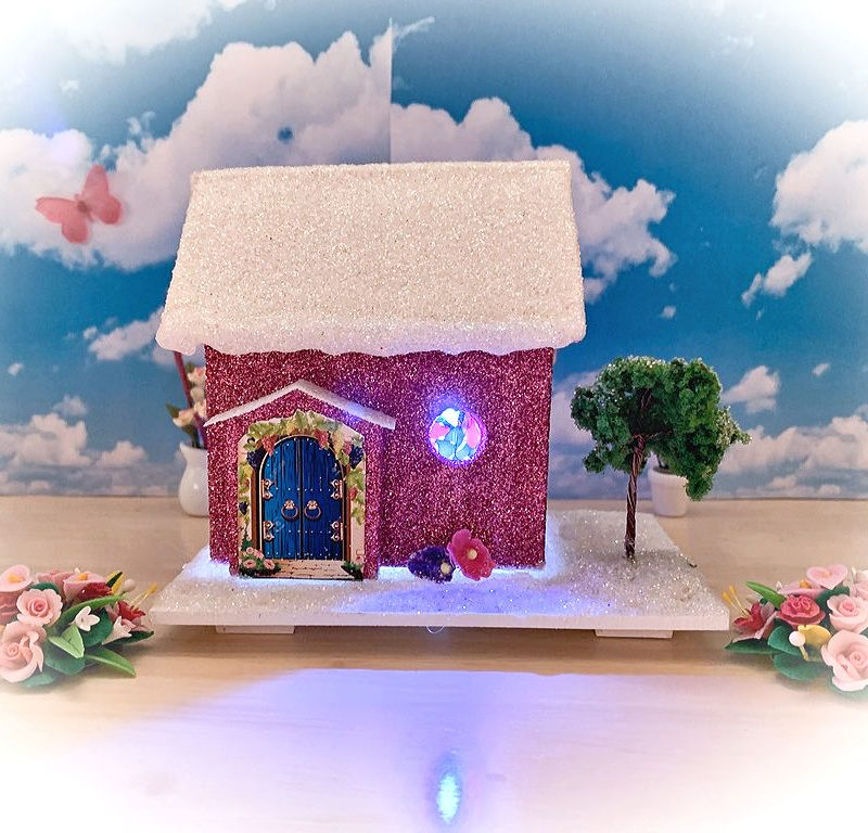Tinkerbell Cottage Light Up Fairy House