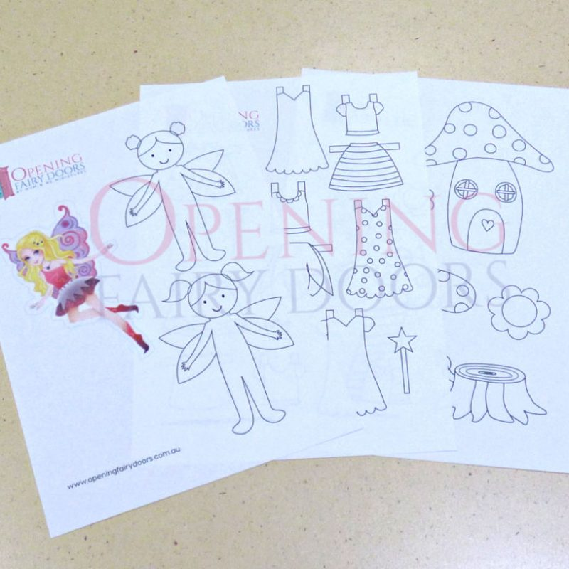 Colour-In Paper Fairy Doll Printable Download