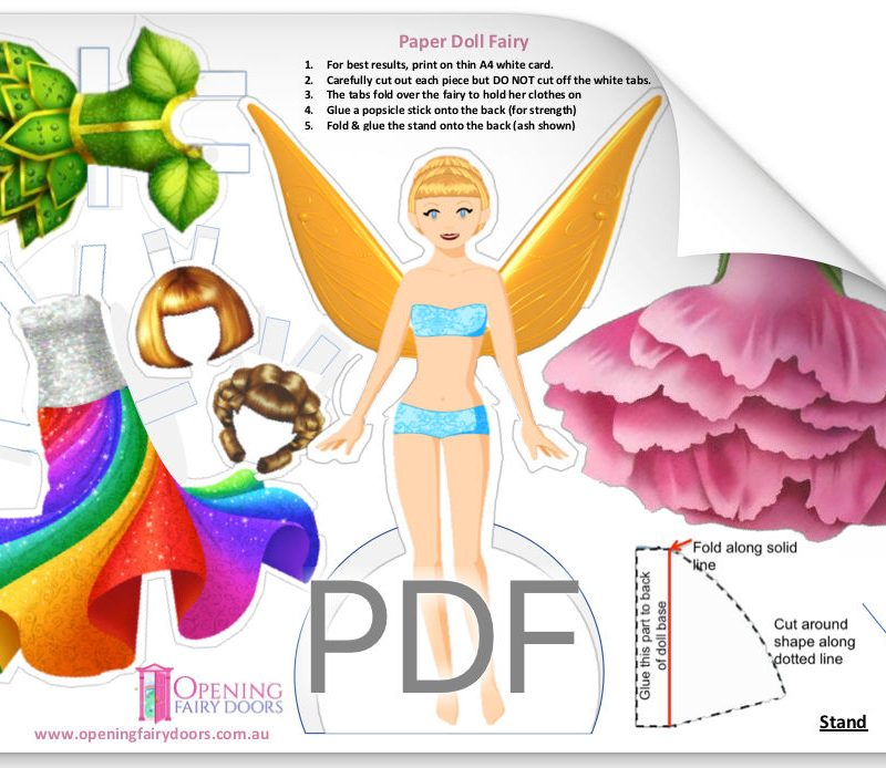 Paper Fairy Doll Printable Download