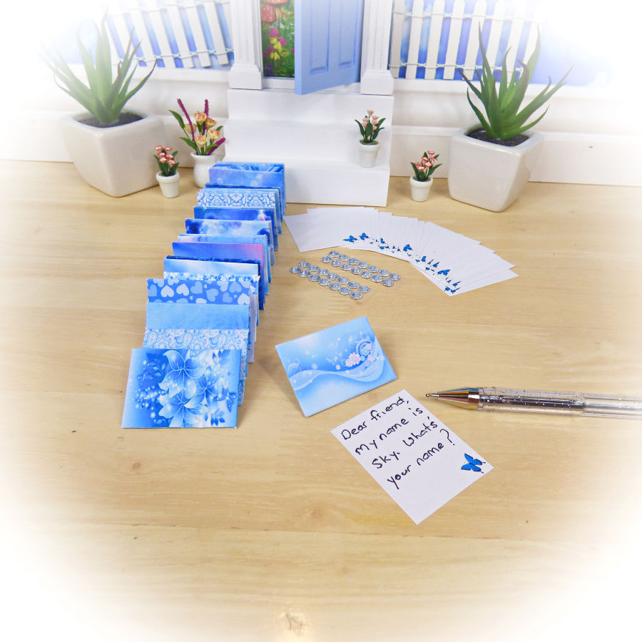 Blue Fairy Letters Set