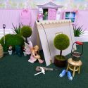 Fairy Camping with a fairy door tent