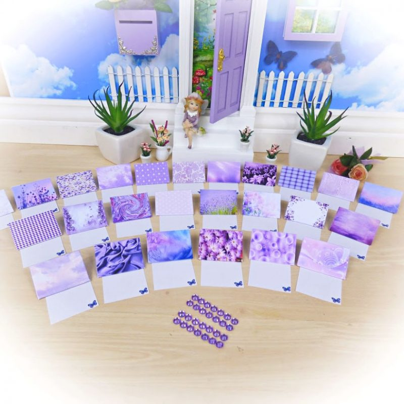 Purple Fairy Letters Set
