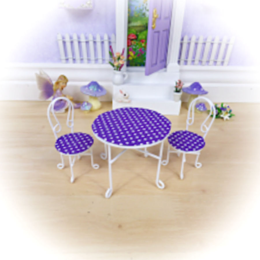 Purple Table and Chairs Set