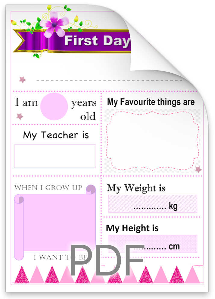 Pink Free Back to School Photo Sign