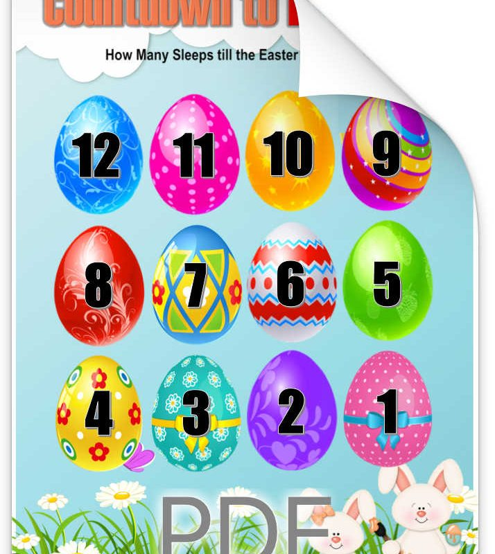 Easter Countdown Printable Download