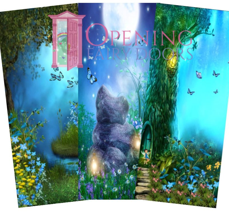 Blue Fairy Door Background Pictures