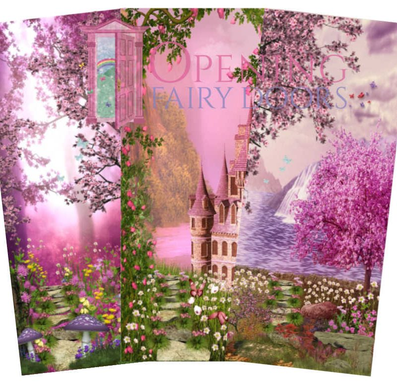 Pink Fairy Door Background Pictures