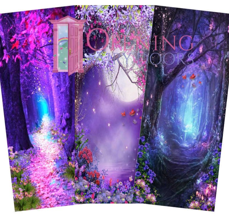 Purple Fairy Door Background Pictures