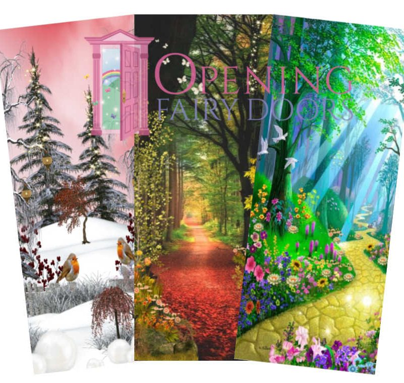 seasons fairy door background pictures