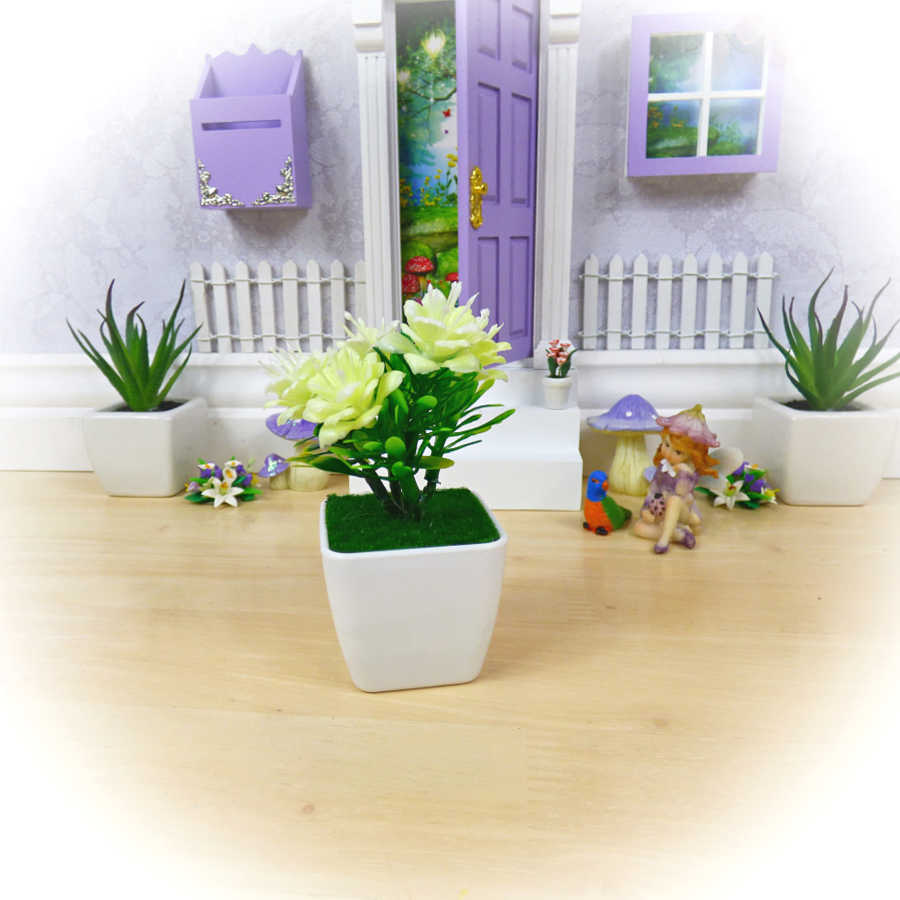 cream flower pot