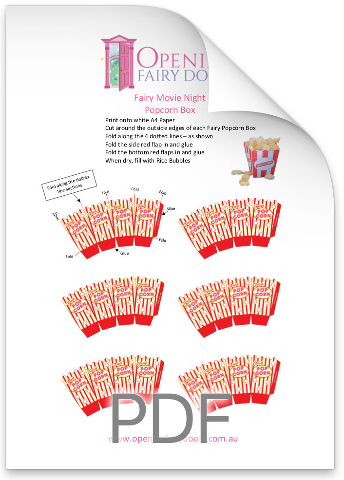 fairy movie night free printable template